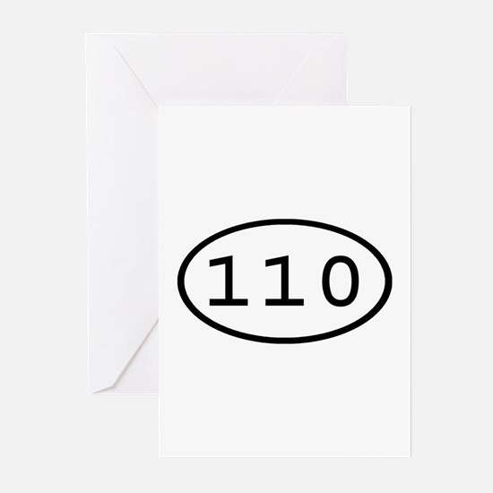 110 Oval Greeting Cards (Pk of 10)