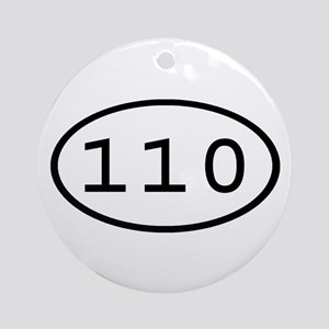 110 Oval Ornament (Round)