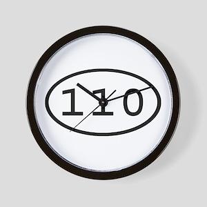 110 Oval Wall Clock