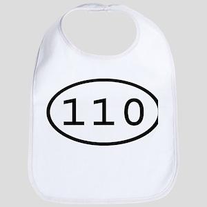 110 Oval Bib