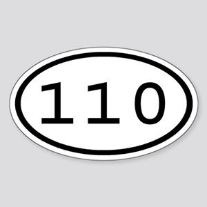 110 Oval Oval Sticker