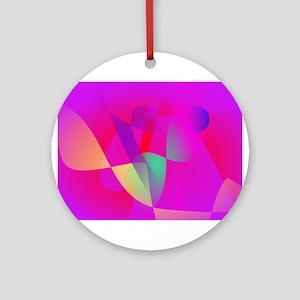 Kinetics Vivid Pink Ornament (Round)