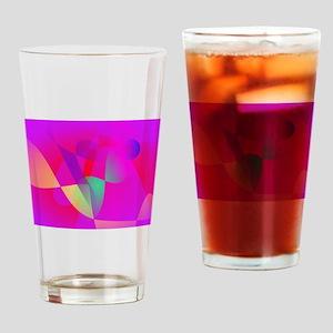 Kinetics Vivid Pink Drinking Glass