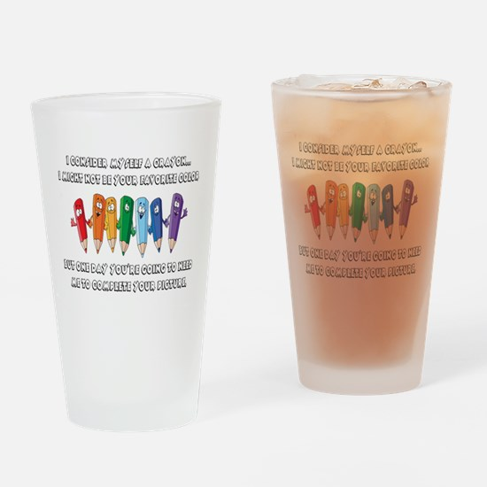 Crayons Drinking Glass