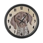 German Shorthaired Pointer Large Wall Clock