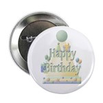 Happy Birthday Party Hat Button