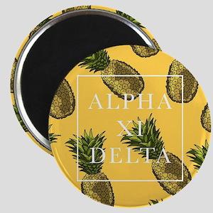 Alpha Xi Delta Pineapples Magnet