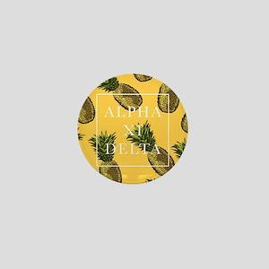 Alpha Xi Delta Pineapples Mini Button