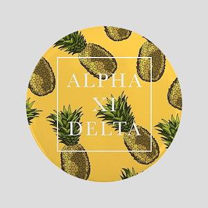 "Alpha Xi Delta Pineapples 3.5"" Button"