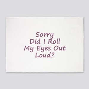 Roll My Eyes 5'x7'Area Rug