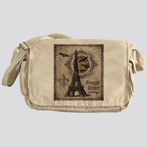 Modern vintage Halloween Eiffel Tower Messenger Ba