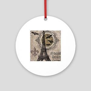 Modern vintage Halloween Eiffel Tower Ornament (Ro