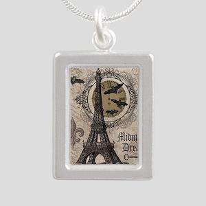 Modern vintage Halloween Eiffel Tower Necklaces