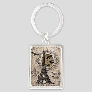 Modern vintage Halloween Eiffel Tower Keychains