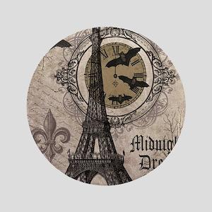 """Modern vintage Halloween Eiffel Tower 3.5"""" Button"""