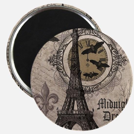 Modern vintage Halloween Eiffel Tower Magnets