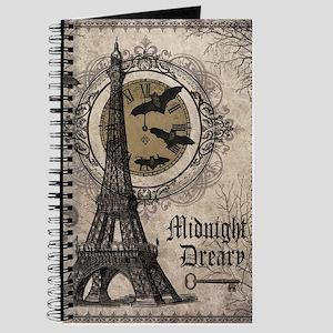 Modern vintage Halloween Eiffel Tower Journal
