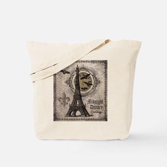 Modern vintage Halloween Eiffel Tower Tote Bag