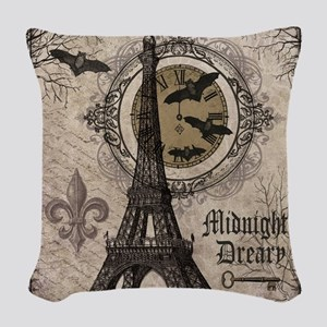 Modern vintage Halloween Eiffel Tower Woven Throw