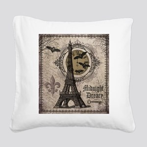 Modern vintage Halloween Eiffel Tower Square Canva