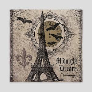 Modern vintage Halloween Eiffel Tower Queen Duvet