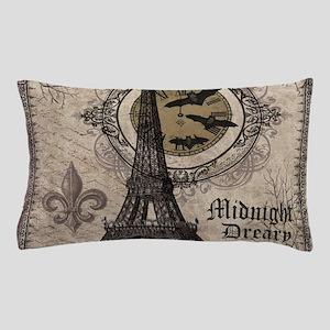 Modern vintage Halloween Eiffel Tower Pillow Case