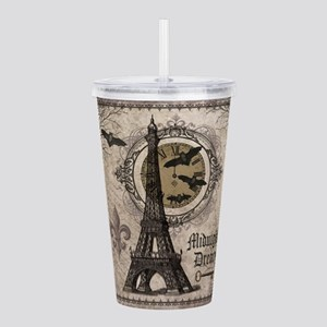 Modern vintage Halloween Eiffel Tower Acrylic Doub