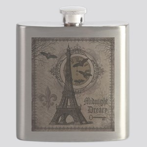 Modern vintage Halloween Eiffel Tower Flask