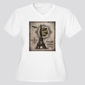 Modern vintage Halloween Eiffel Tower Plus Size T-