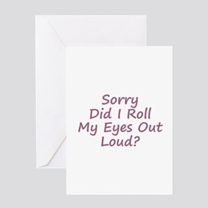 Roll My Eyes Greeting Cards