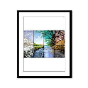 as time goes by Framed Panel Print