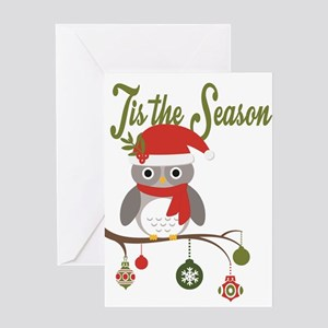 Owl christmas greeting cards cafepress modern trends holiday owl greeting cards m4hsunfo