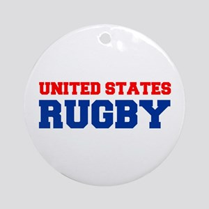 united states us rugby Ornament (Round)