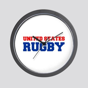 united states us rugby Wall Clock