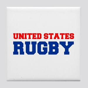 united states us rugby Tile Coaster
