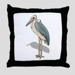 Marabou Stork Throw Pillow
