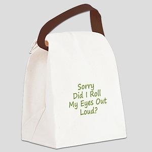 Roll My Eyes Canvas Lunch Bag