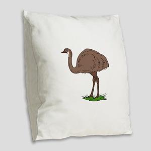 emu Burlap Throw Pillow