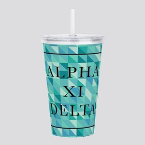 Alpha Xi Delta Geometr Acrylic Double-wall Tumbler