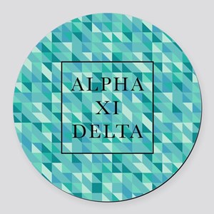Alpha Xi Delta Geometric Round Car Magnet