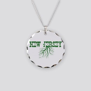New Jersey Roots Necklace Circle Charm
