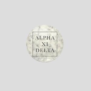 Alpha Xi Delta Marble Mini Button