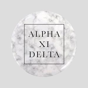 "Alpha Xi Delta Marble 3.5"" Button"