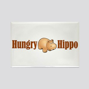 Hungry Hippo Rectangle Magnet