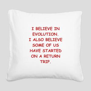devolution Square Canvas Pillow
