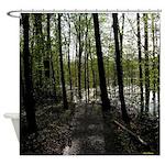 Swampy Woods Shower Curtain