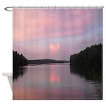 Pink Evening Shower Curtain
