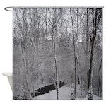 Snow Stream Shower Curtain