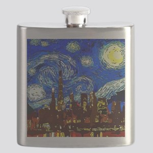 Starry Night Chicago Flask