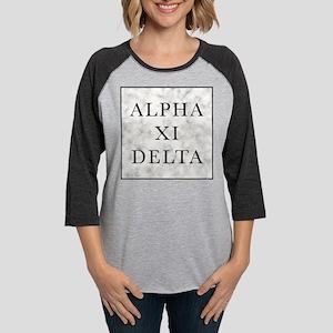 Alpha Xi Delta Marble Womens Baseball Tee
